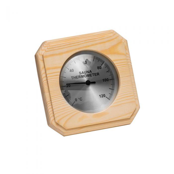 Sauna thermometer Pine 140 x 140 mm.