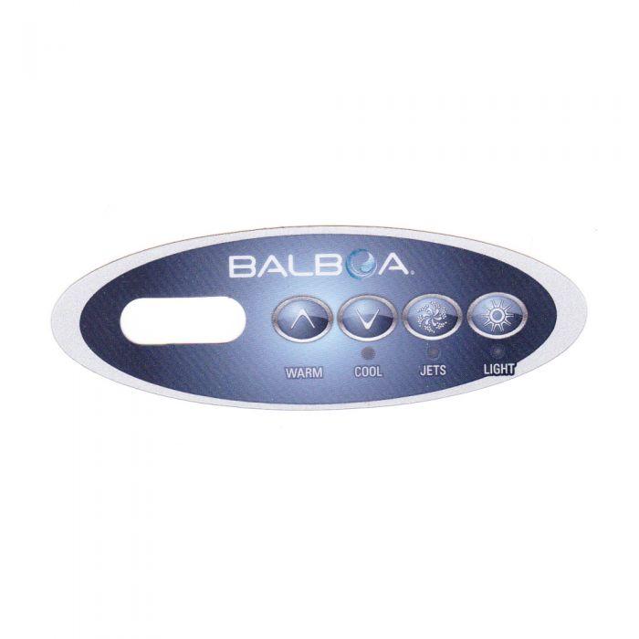Sticker voor Balboa display type VL200 Warm - Cool - Jets - Light