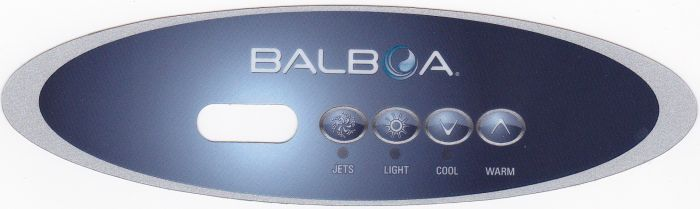 Sticker voor Balboa display type VL260 voor 1 pomp