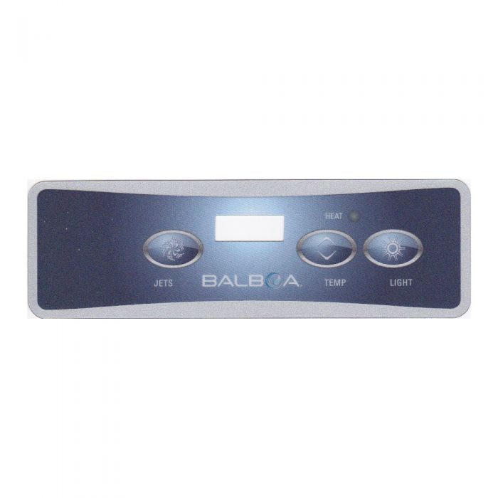 Sticker voor Balboa display type VL401 voor 1 pomp (3 knoppen)