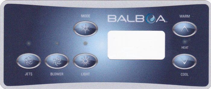 Spa display overlay Balboa VL701S voor 1 pomp met blower