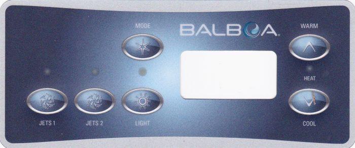 Spa display overlay Balboa VL701S voor 2 pompen