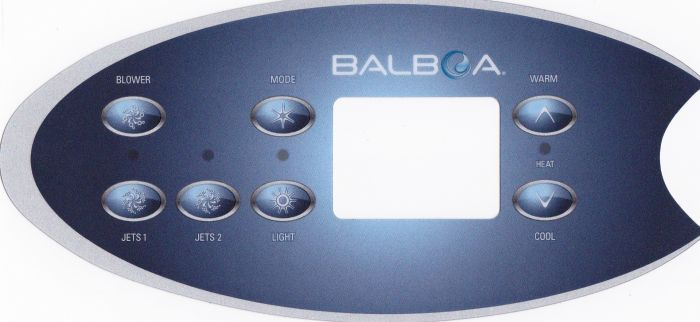 Sticker voor Balboa display type VL702S - 2 pompen + blower