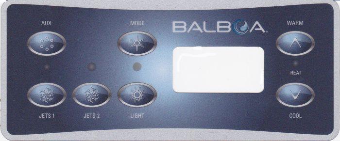 Spa display overlay Balboa VL701S voor 2 pompen + AUX