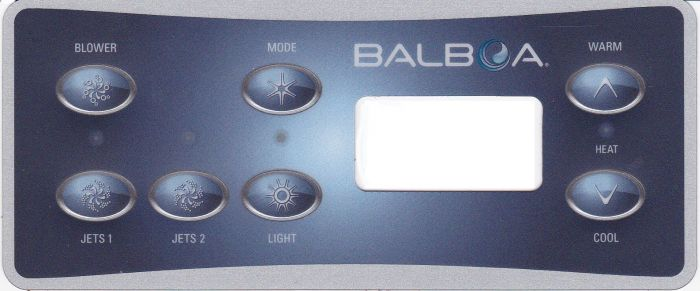Spa display overlay Balboa VL701S voor 2 pompen + blower