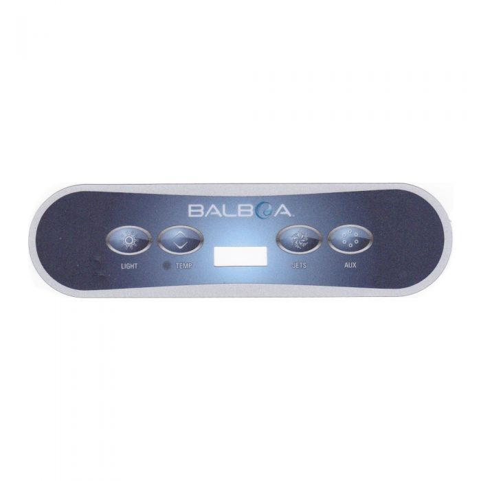 Sticker voor Balboa display type VL400 - light-temp-jets-aux