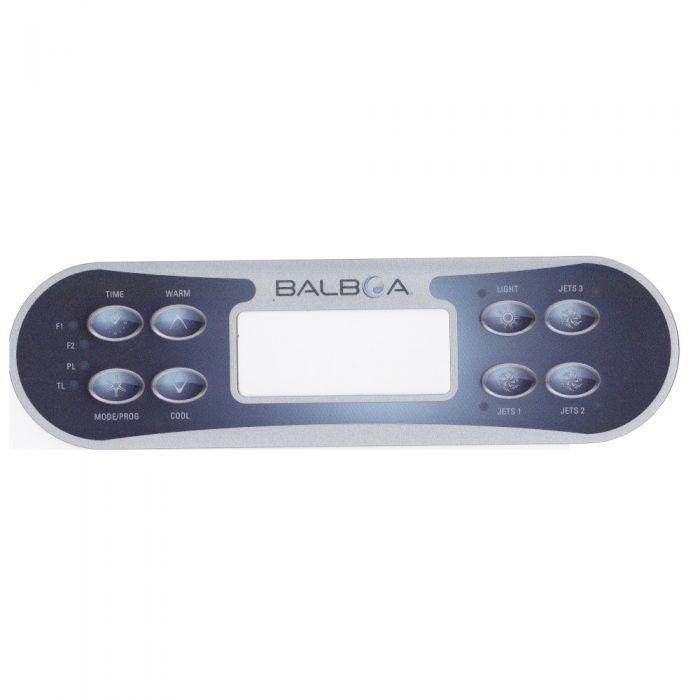 Overlay of sticker voor het display van Balboa type ML700 voor 3 pompen