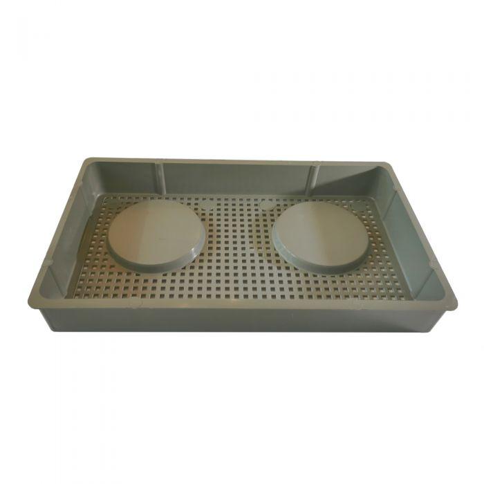 Filtermandje rechthoekig Waterway 519-6611 grijs