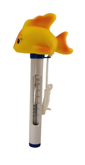 Thermometer met drijvende vis voor spa, bubbelbad of zwembad