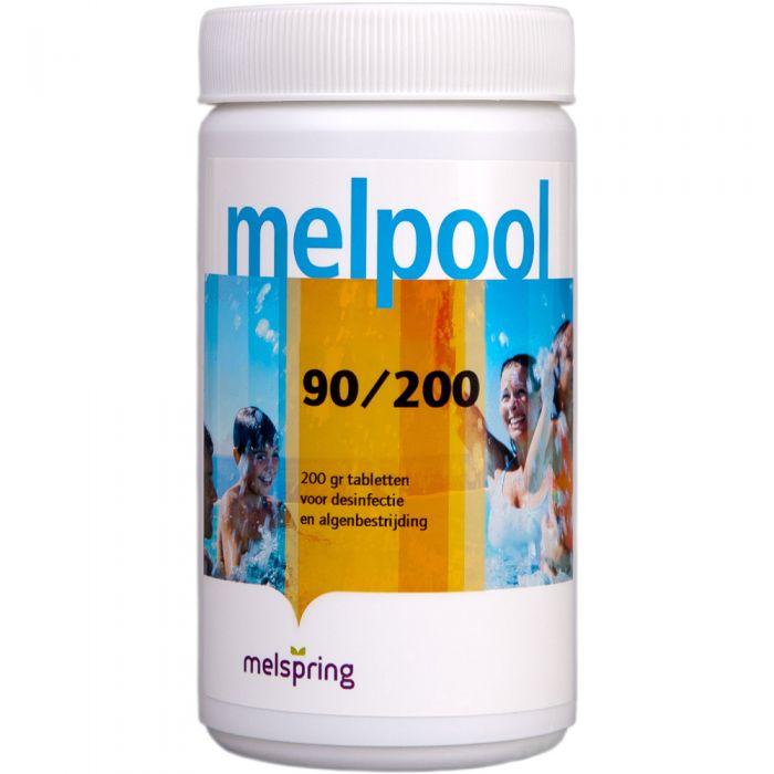 Melpool grote zwembad Chloor tabletten 90/200 - 5 stuks tabletten van 200 gram - 1 kg