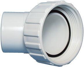 Spa pomp koppeling met moer 2 inch met 45 graden Waterway 400-4300