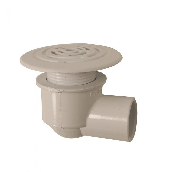 Afvoer drainage voor spa, wit, laag profiel Waterway 640-0430