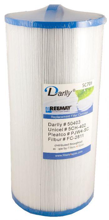 Spa filter Darlly SC701 50403 - Pleatco PJW40-SC - Unicel 5CH-402