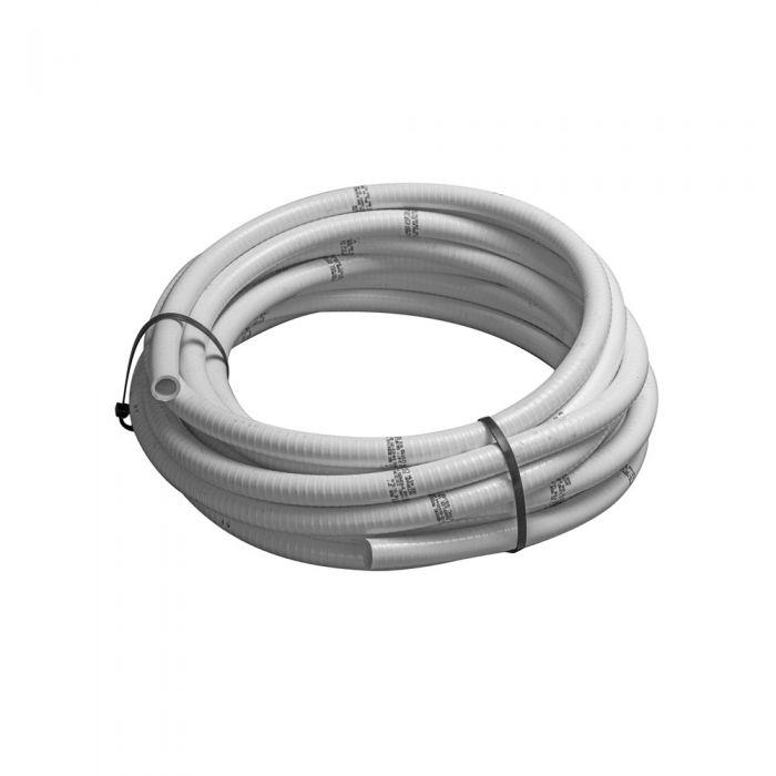 Spa flex leiding 0,75 inch wit flexibele slang voor spa's, zwembaden en aquarium