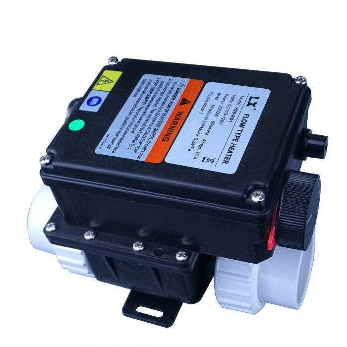 Spa heater / verwarming 2kW met thermostaat knop om de temperatuur in te stellen. LX H20-RS1