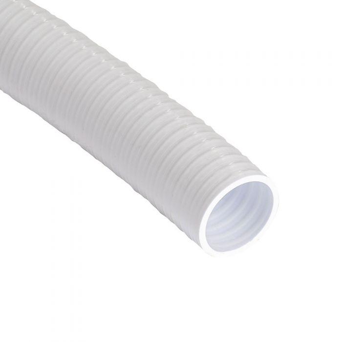 40 cm. spa leiding flex 2,5 inch wit flexible slang voor spa's, zwembaden en aquarium
