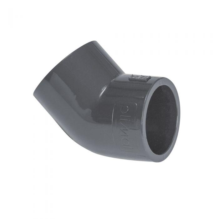 Spa PVC 60mm. 45 graden bocht kopen bij Spa-webshop