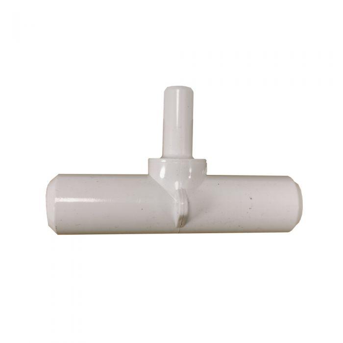 T stuk voor spa leidingwerk 0,75 inch (ca 27mm.) inwendig met aansluiting 3/8 inch