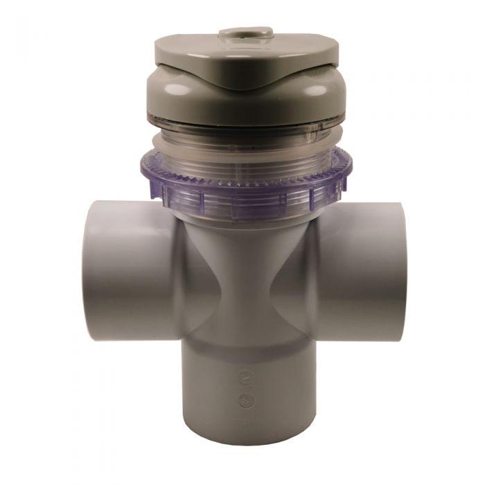 Spa water verdeelknop van Wellis 2 inch T-stuk GRIJS