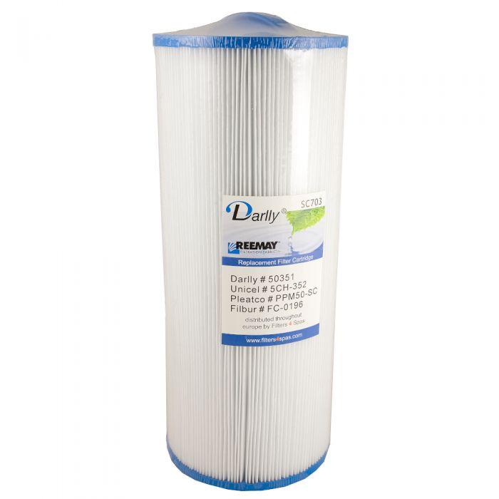 Spa filter Darlly SC703 50351 - Pleatco PPM50-SC - Unicel 5CH-352 - Filbur FC-0196M - Magnum MA35