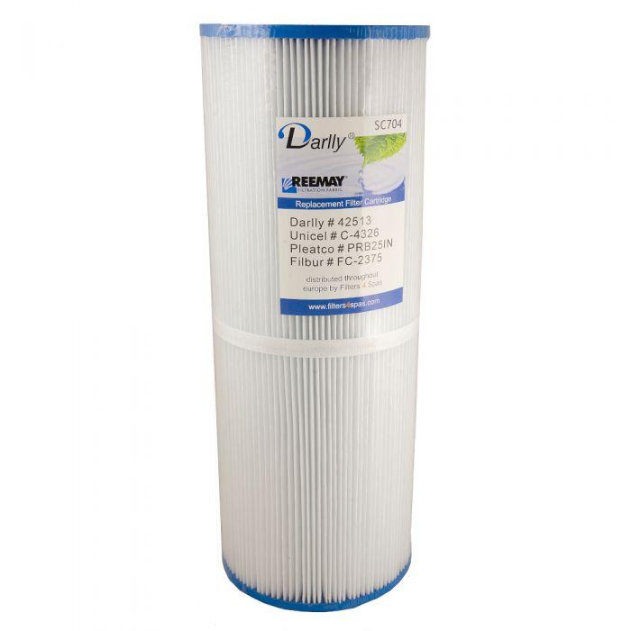 Spa filter Darrly SC704 - Pleatco PRB251N - Unicel C-4326 - Filber FC-2375 -Magnum RD25