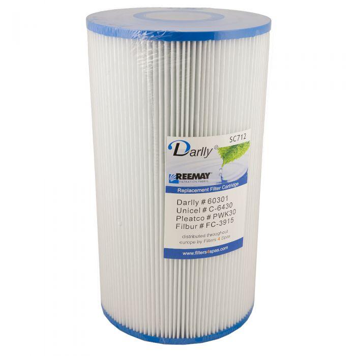 Spa filter Darlly SC712 60301 - Pleatco PWK30 - Unicel C-6430 - Filbur FC-3915