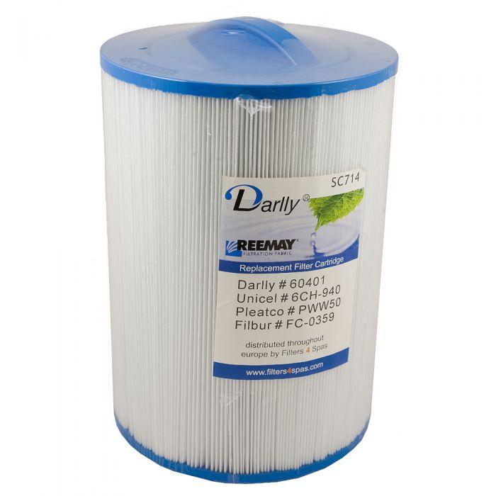 Spa filter Darlly SC714 60401- Pleatco PWW50 - Unicel 6CH-940 - Filbur FC-0359 Overzicht