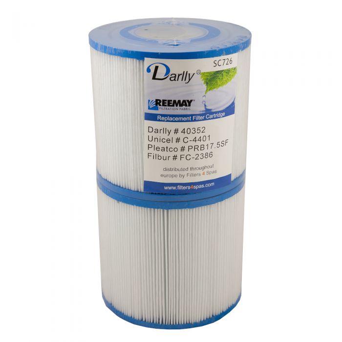 Spa filter Darlly SC726 40352 - Pleatco PRB17.5SF PR - Unicel C-4401