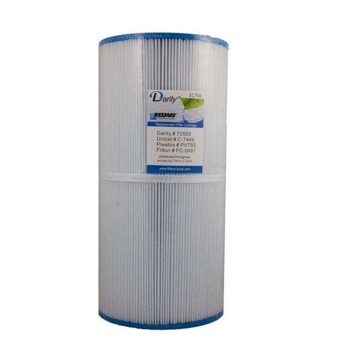 Spa filter Darlly SC740 70505 - Pleatco PVT 50P - Unicel 7CH-50 voor oa Hotspring spas