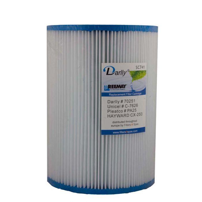 Spa Filter Darlly SC741 70251 - Unicel C-7626 - Pleatco PA25