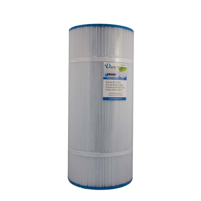 Spa Filter Darlly SC747 81203 - Unicel 8CH-202 - Pleatco PCS50N