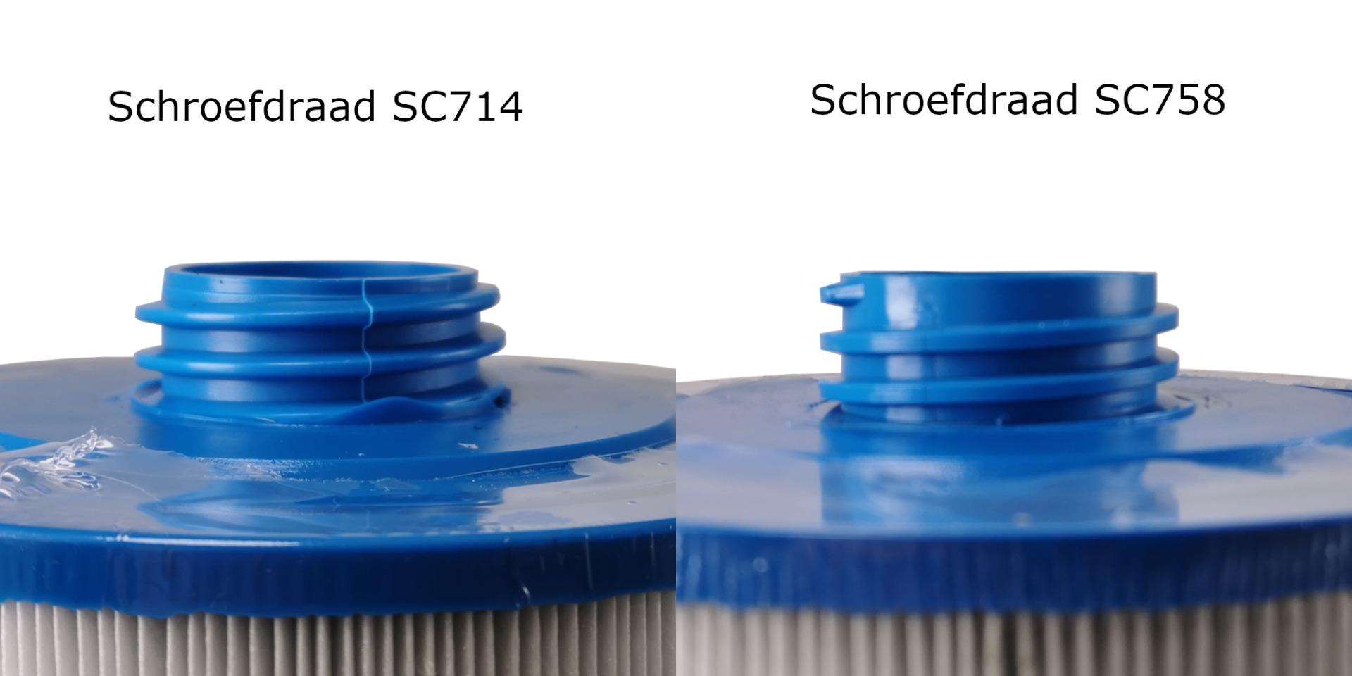 Schroefdraad spa filters